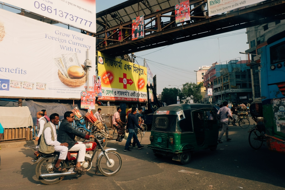 Scenes of Dhaka, Captured from a Moving Car